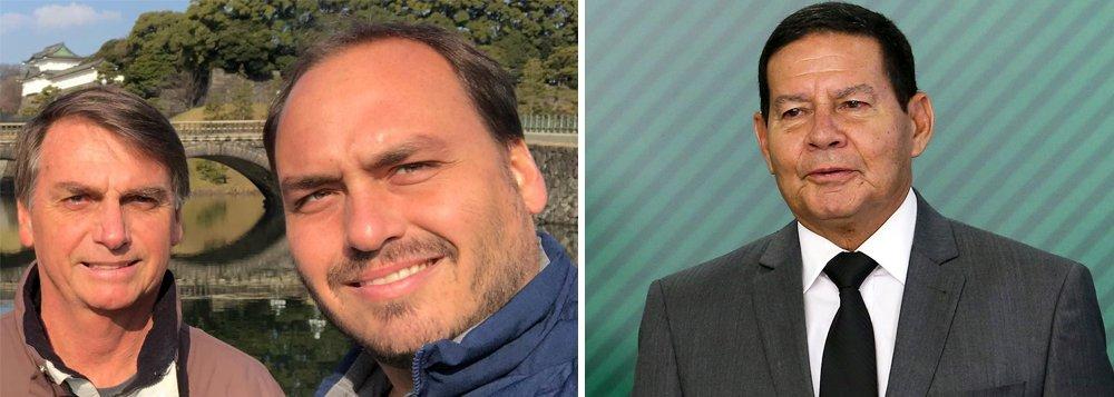 Núcleo militar afasta Carlos Bolsonaro das questões de governo