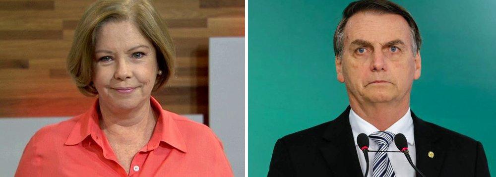 Eliane pede desculpas a Bolsonaro por ter falado em quimioterapia