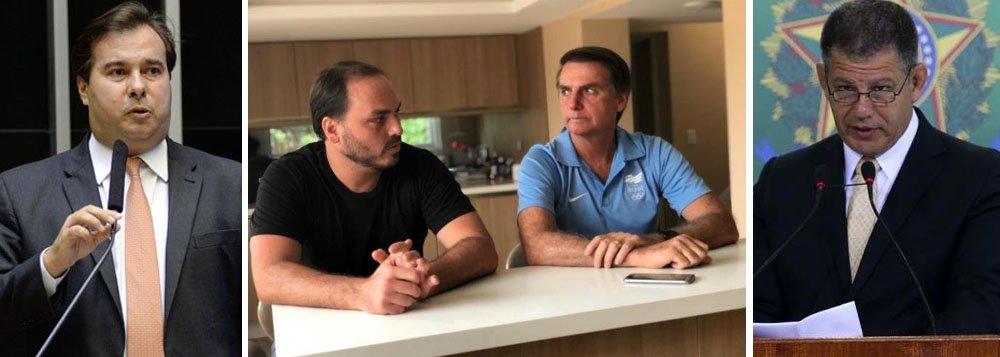 Maia: 'impressão' é que Bolsonaro usa filho para induzir saída de Bebianno