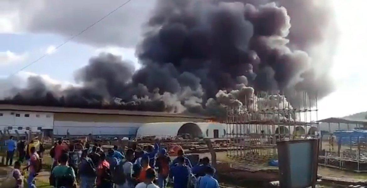 Incêndio atinge área da usina de Belo Monte
