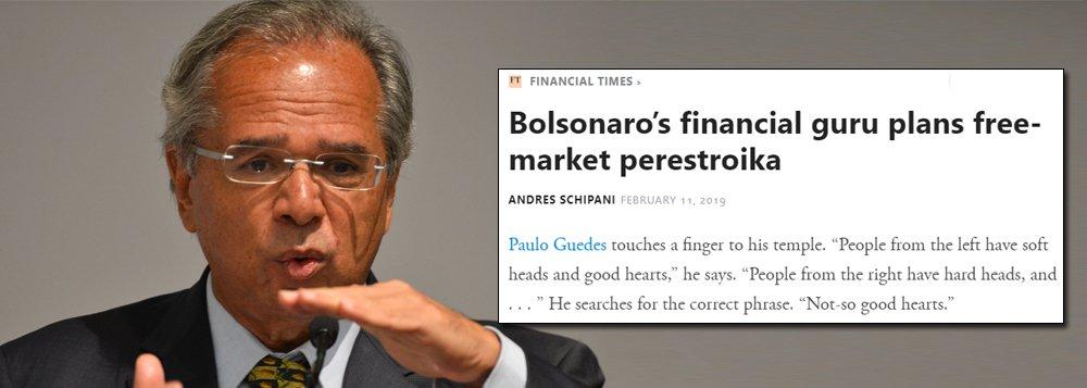 Guedes: antes de Bolsonaro, o Brasil era democracia de uma perna só