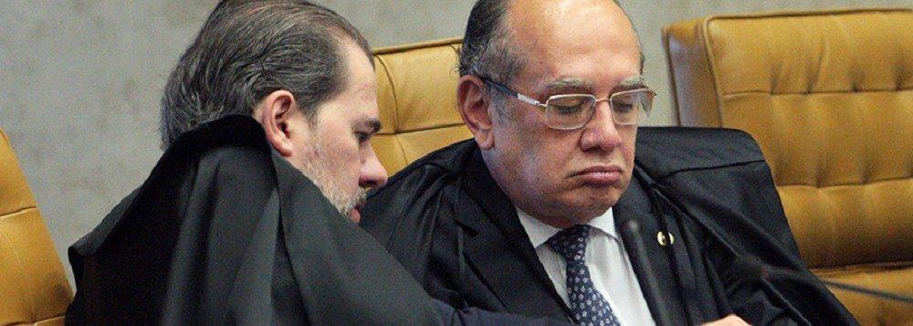 Tijolaço: Gilmar denuncia a Toffoli devassa em suas contas. A máquina avança sobre o STF
