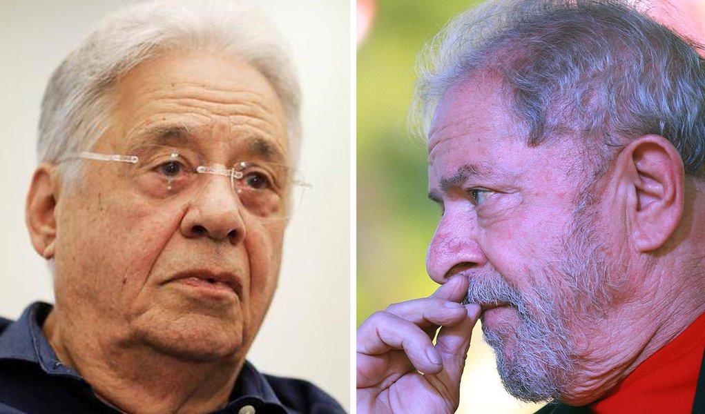 Ex-presidentes FHC e Lula.