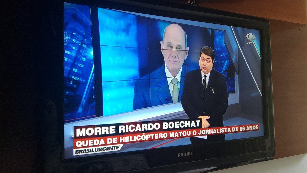 Datena se emociona ao noticiar a morte de Ricardo Boechat
