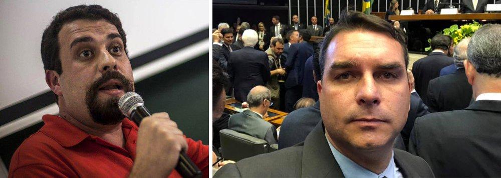 'Não sou dono do mundo, mas sou filho do dono', diz Boulos sobre Flávio Bolsonaro