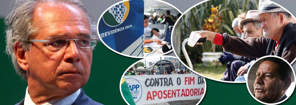 Previdência de Guedes é massacre contra o povo