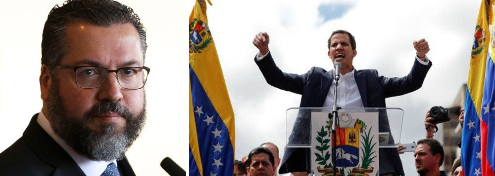Chanceler de Bolsonaro rejeita diálogo e apoia golpe na Venezuela