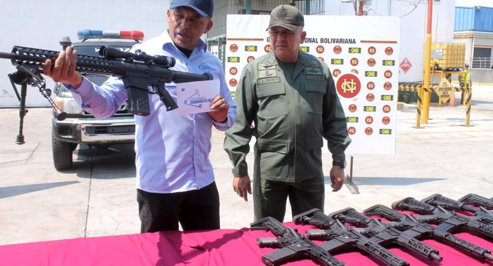 Polícia venezuelana apreende armamento dos EUA em aeroporto