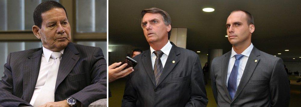 Eduardo Bolsonaro detona Mourão: 'desse aí não tenho nada a declarar'