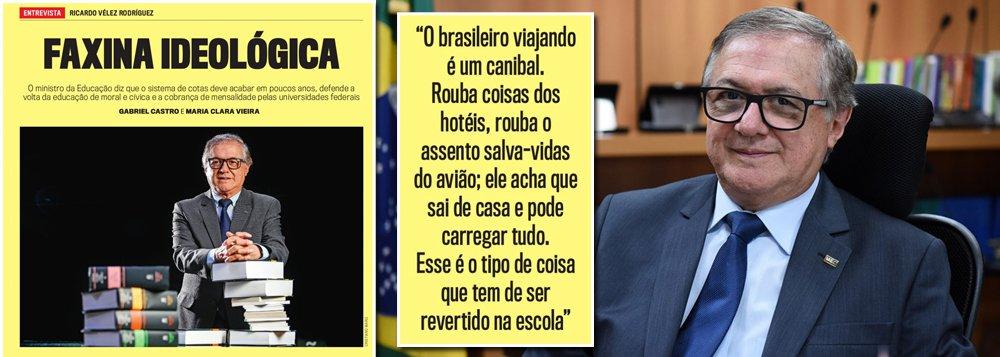 Ministro da Educação de Bolsonaro diz que brasileiros são ladrões