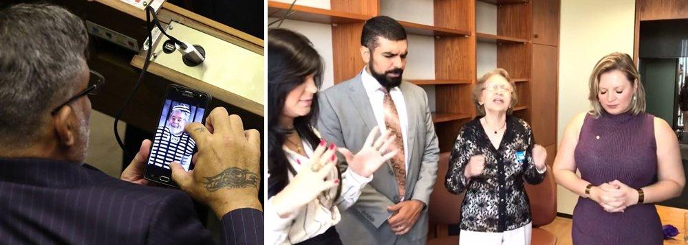 """Crazy news: Joice """"exorciza"""" e Frota pede para visitar cela de Lula. É a estupidez sem limite"""