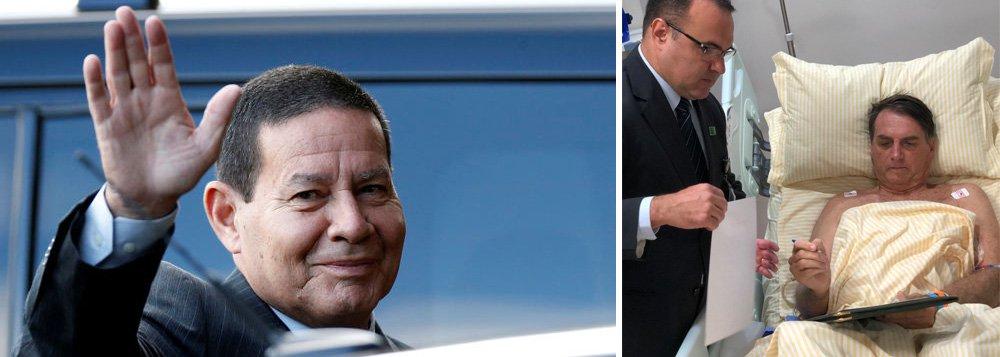 Mourão torna pública sua guerra com Bolsonaro e se propõe a ser poder moderador