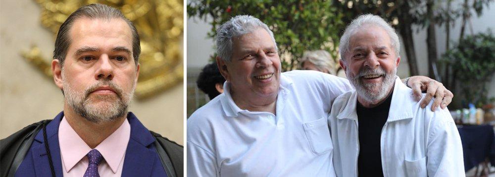 Toffoli libera Lula, mas só  para encontro com familiares