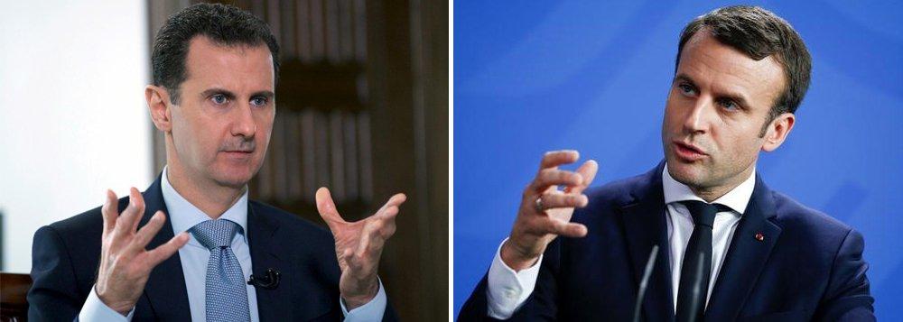 Síria refuta Macron e diz que França apoiou grupos terroristas