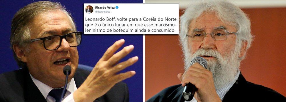 Ministro da Educação de Bolsonaro agride Boff
