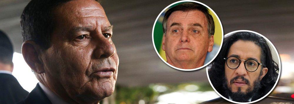 Mourão confronta Bolsonaro e diz que ameaça a parlamentar é crime contra democracia