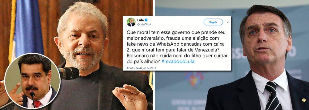 Lula: que moral tem esse governo para falar da Venezuela?