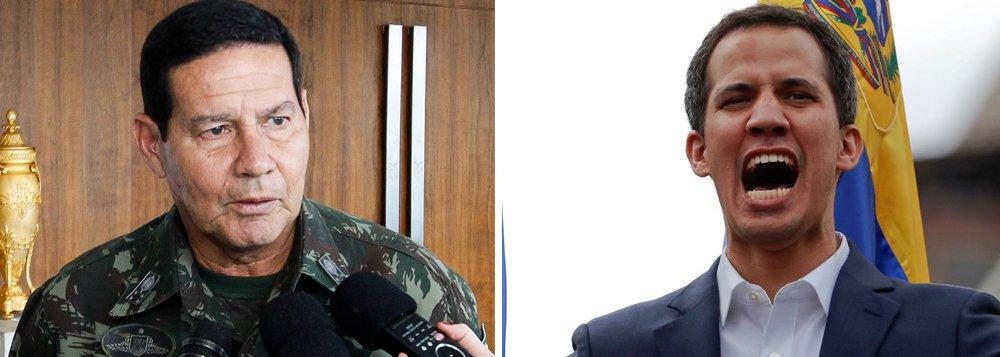 Mourão diz que se Juan Guaidó for preso, o Brasil só irá protestar