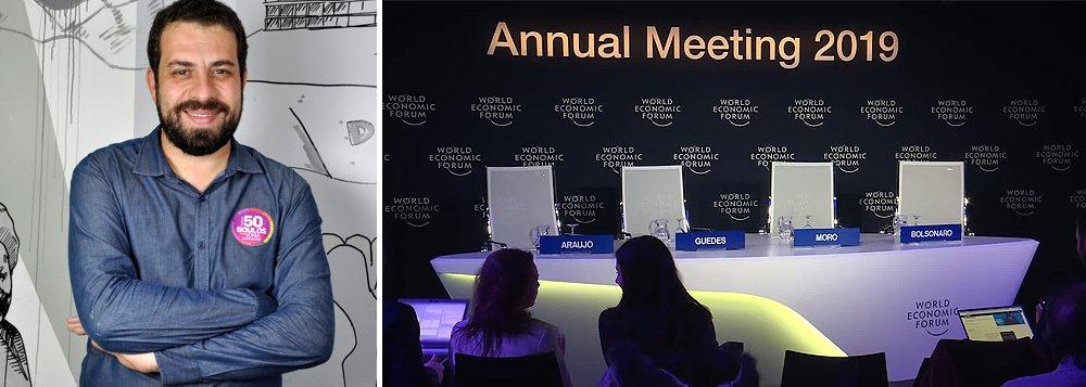 Boulos ironiza Bolsonaro em Davos: será que receberá certificado de participação?