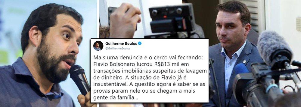 Boulos: situação de Flávio Bolsonaro é insustentável