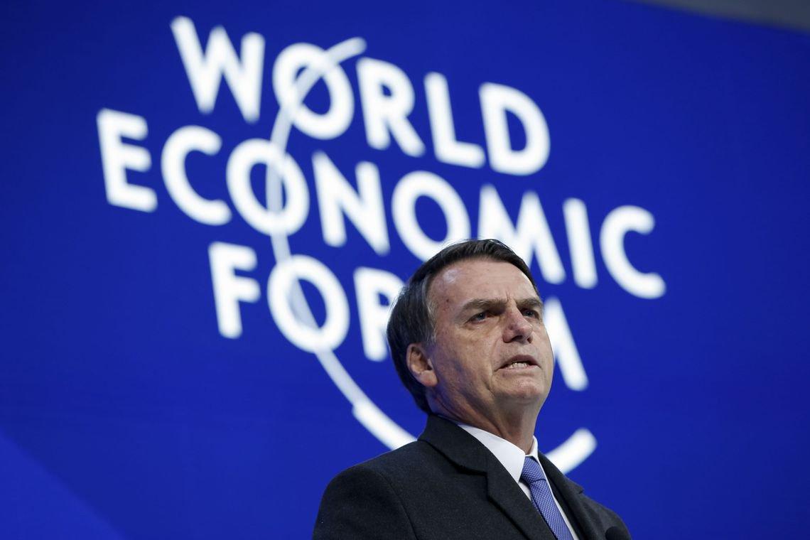 """Bolsonaro promete a empresários em Davos """"fazer dever de casa"""" com reforma da Previdência"""
