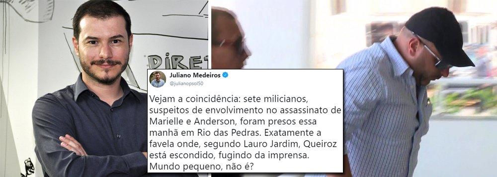 Juliano comenta proximidade entre Queiroz e milicianos detidos: 'Mundo Pequeno?'