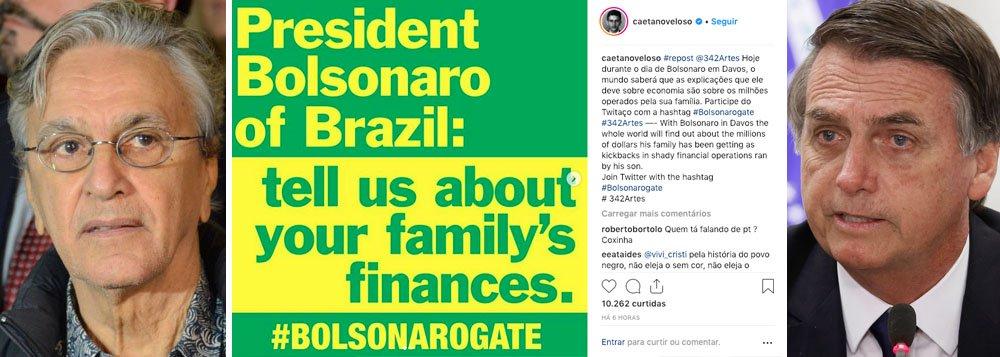 Caetano cobra explicações de Bolsonaro sobre os milhões operados por sua família