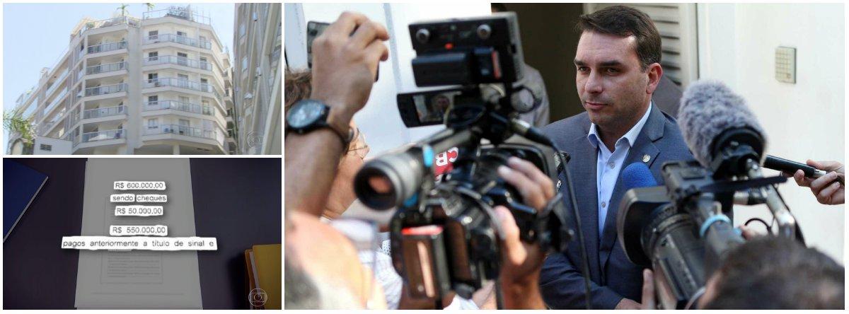 Globo volta a bater e aponta contradição de Flávio Bolsonaro