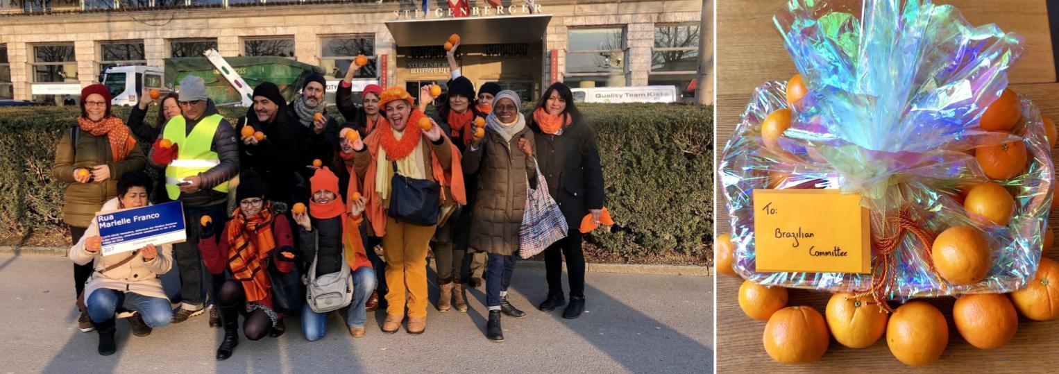 Bolsonaro é recebido com laranjas na Suíça