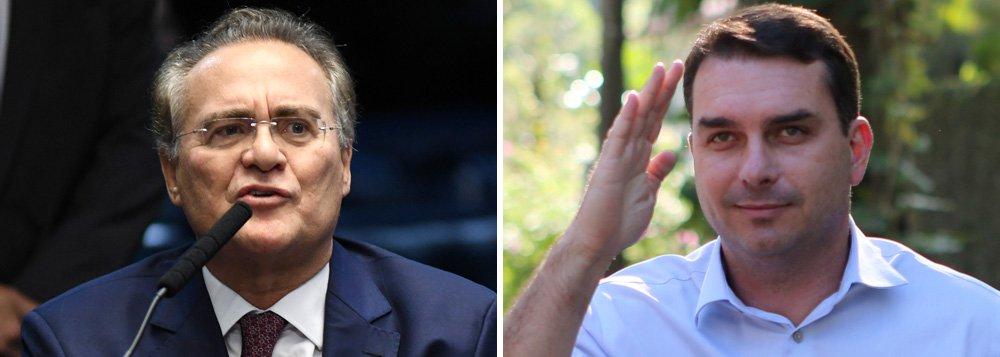 Elogio de Renan a Flávio Bolsonaro é atestado de fragilidade do governo
