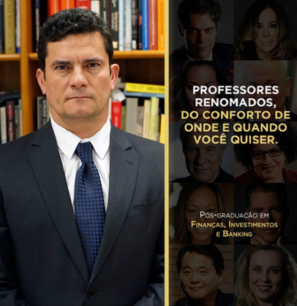 Moro aparece como professor em curso da PUC-RS e é detonado em comentários