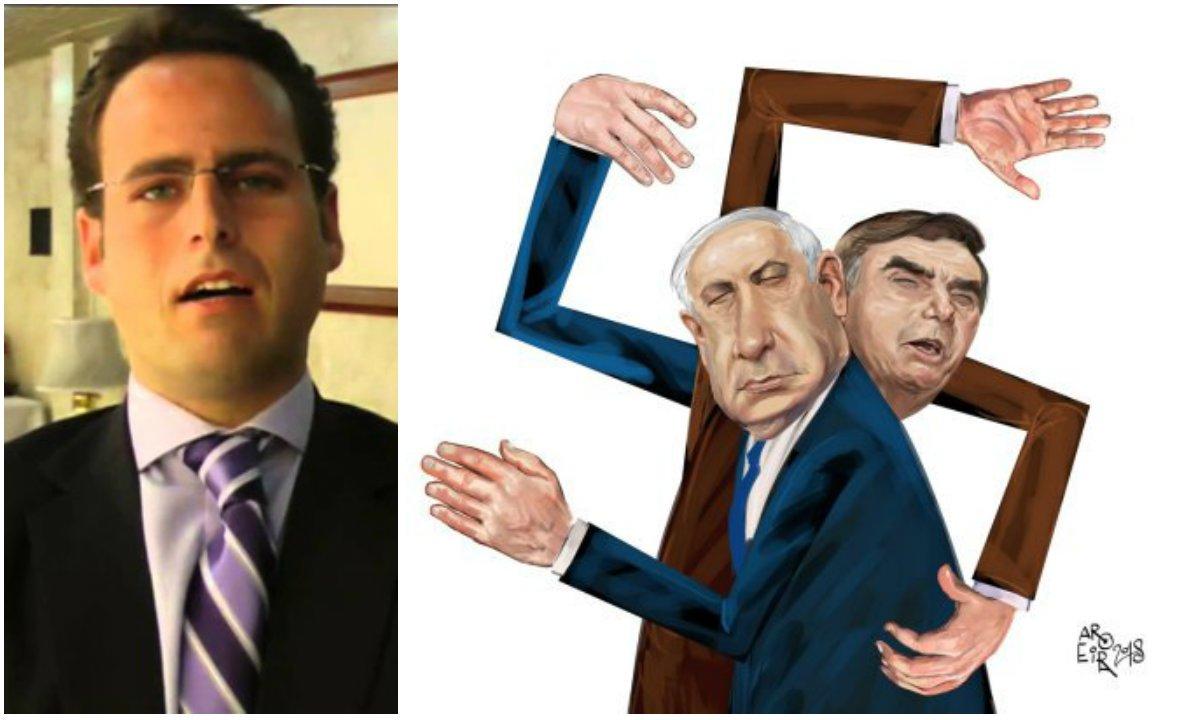 Filho de Fux processa chargista por crítica a Bolsonaro e Netanyahu