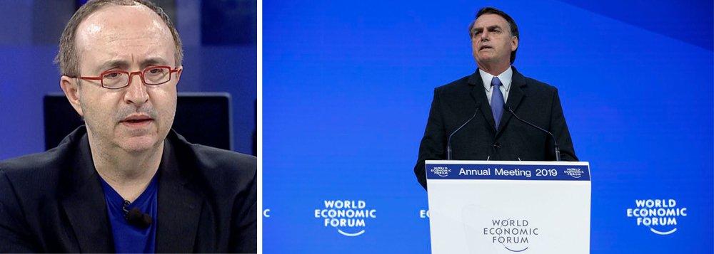 Reinaldo Azevedo: Bolsonaro foi medíocre em Davos
