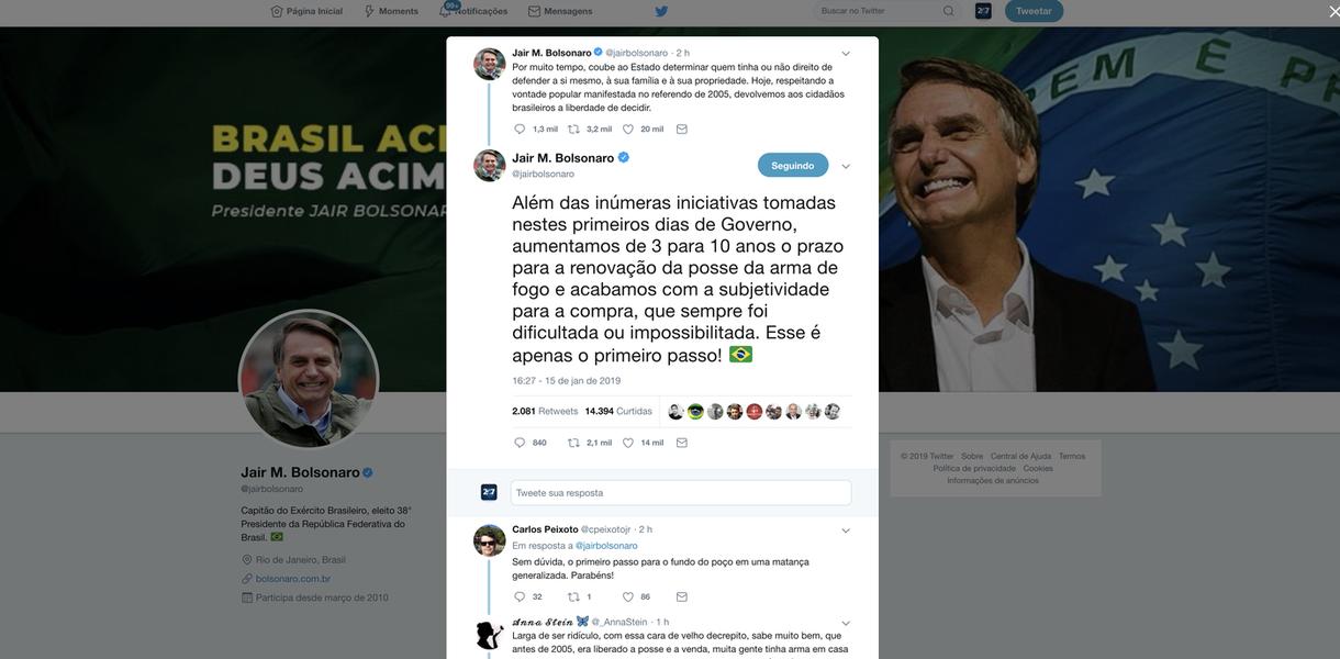 Bolsonaro diz que flexibilização das armas é só o primeiro passo