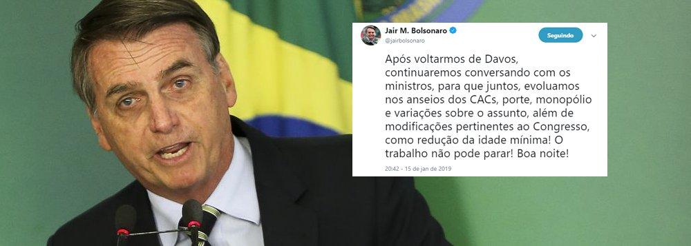 Bolsonaro já quer mudar para pior seu decreto faroeste e reduzir idade mínima
