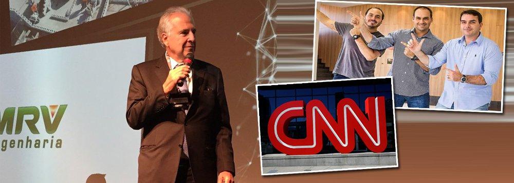 Dono da CNN Brasil é bolsonarista, defende militares e os filhos do clã