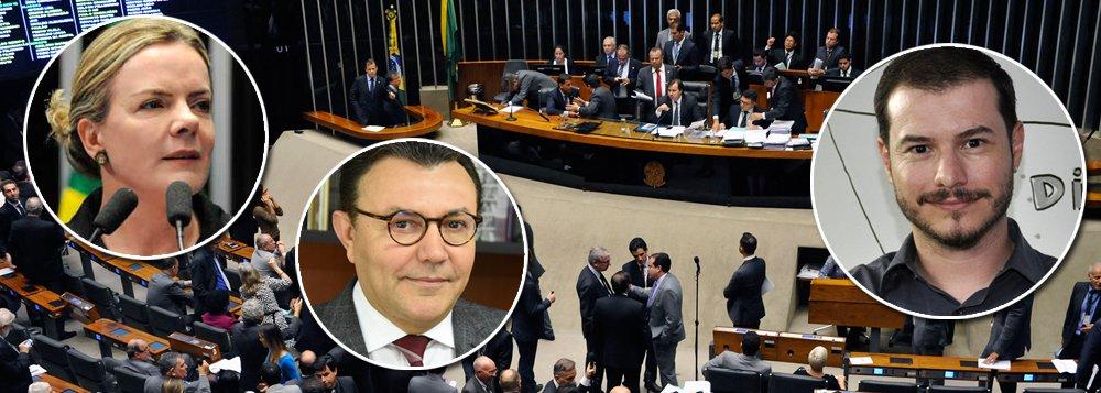 Eleição na Câmara: PT, PSB e PSOL debatem bloco de oposição a Maia