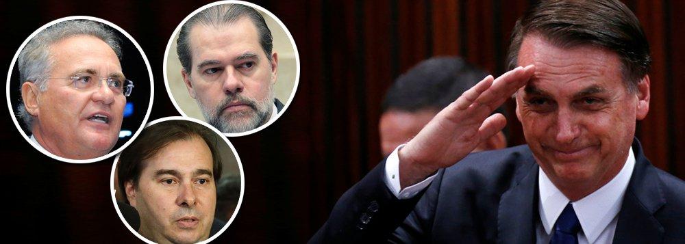 Com Maia, Renan e Toffoli, governo tem campo livre no Congresso e no STF