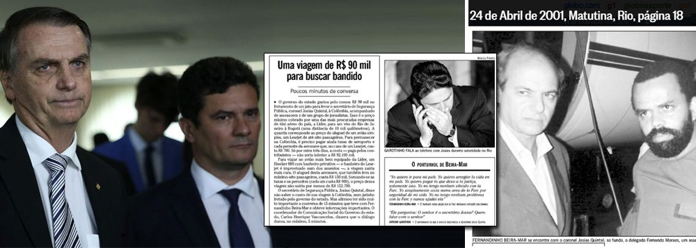 Marcelo Auler: por um troféu, Bolsonaro e Moro copiaram Garotinho e Josias Quintal