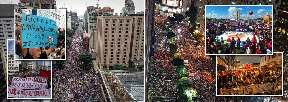 Em mais de 200 cidades, 2 milhões vão às ruas contra a destruição da Educação por Bolsonaro