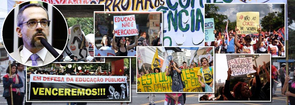 Estudantes tomam as ruas do Brasil e Weintraub, o ministro da ignorância, é vaiado na Câmara