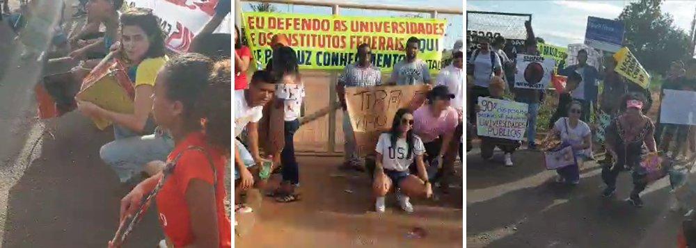 Estudantes ocupam portão da Universidade Federal do Tocantins