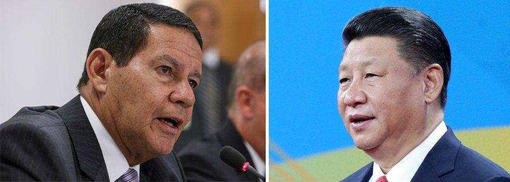 Mourão vai se encontrar com Xi Jinping na China ainda este mês