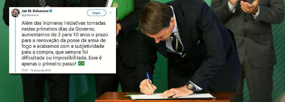 Liberação de armas é utopia macabra de Bolsonaro
