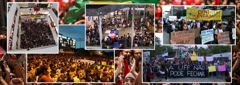 Tsunami contra o desmonte da educação tomará as ruas do Brasil nesta quarta-feira