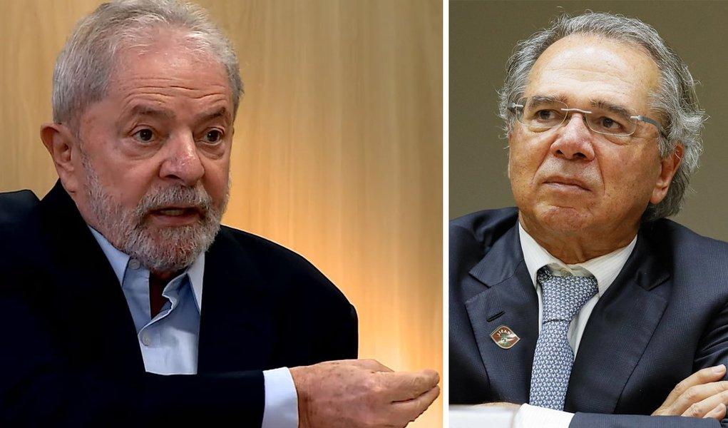 Lula: Guedes é do mercado, não se interessa pela fome dos aposentados