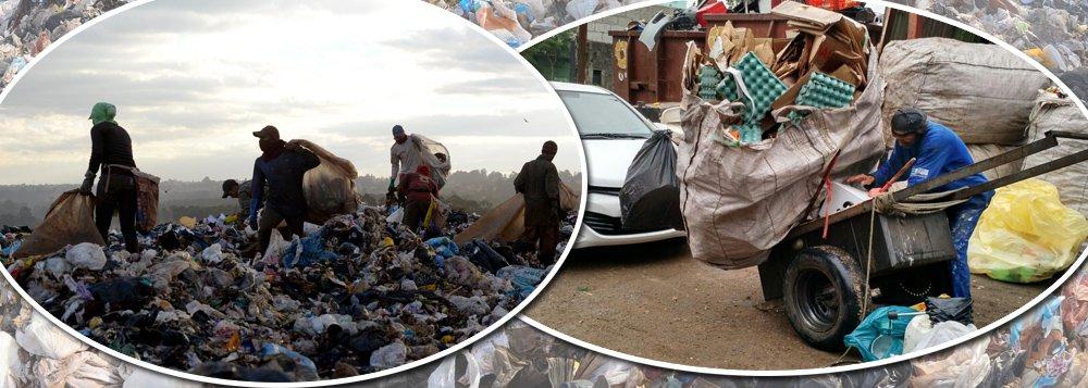 Catadores de lixo voltam a retratar Brasil real