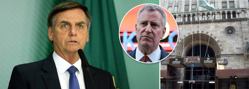 Prefeito de Nova York volta a detonar Bolsonaro