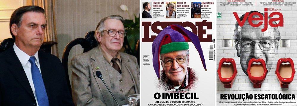 Revistas semanais declaram guerra ao guru do bolsonarismo