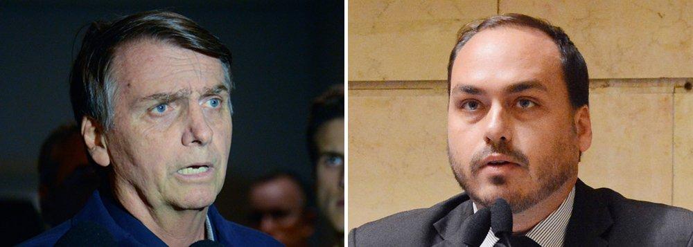 Bolsonaro defende temperamento de Carluxo: é normal dar caneladas